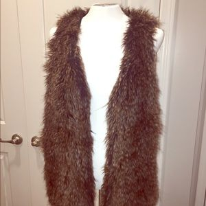 Faux fur vest by Bass small